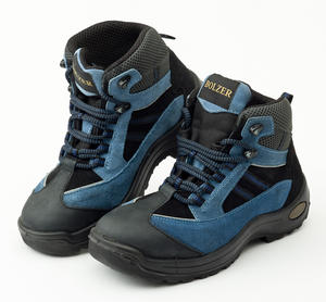 Bolzer Blue Safety Boots Steel Toe
