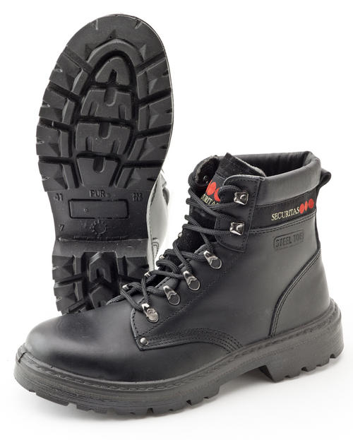 Securitas Work Safety Boots Steel Toe Black A0497